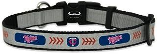 MLB Minnesota Twins Baseball Pet Collar, Small, Reflective