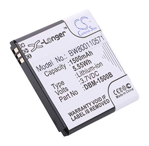 vhbw Li-Ion Akku 1500mAh (3.7V) für Handy Smartphone Telefon Doro Liberto 820 Mini wie DBM-1500B.