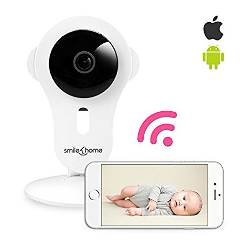 Smilehome Best Video Baby Monitor, IP Security Camera, 720P HD WiFi Digital Wireless/Wired Pan/Tilt Pet Cam with Two-Way Audio Sound & Motion Detection and Day/Night Version for iPhone/Android