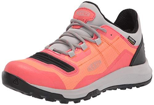 KEEN Women's Tempo Flex Low Height Lightweight Waterproof Hiking Shoe, Nectarine/Dubarry, 8.5 M (Medium) US