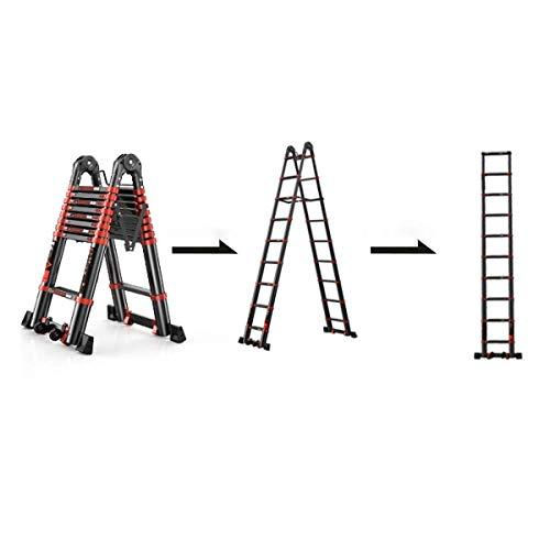 4.9M Multifunctionele Extension Gereedschap breedte 82mm aluminium ladders 6 stappen Telescopische tweeërlei gebruik visgraat ladder ladder en 8bayfa