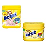 Nesquik Banana and Strawberry Milkshake Bundle | Enjoy This Delicious Combo | Banana Flavour 1 x 300g and Strawberry Milkshake 1 x 500 g | Total of 2 tubs