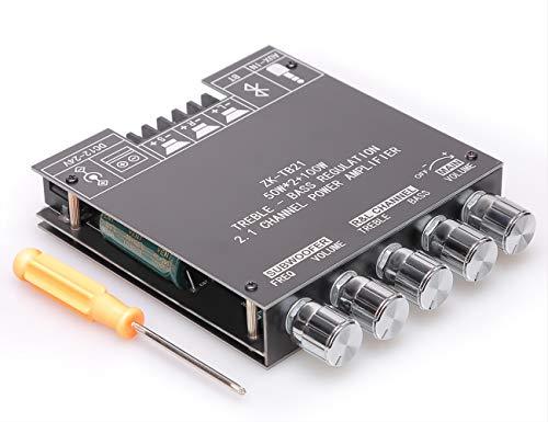 Scheda amplificatore Bluetooth a 2.1 canali con chip tpa3116D2, potenza di uscita di picco 50W * 2 + 100W, kit ricevitore altoparlante wireless Bluetooth , DC: 9-24V