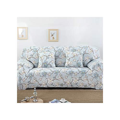 Cheryl Norri Universal-Stretch-Sofa-Abdeckung Spandex Polyester Couch Slipcover Sectional Sofa Sessel Möbel Abdeckung Blumenvogel-Blätter, 19,2 Seater