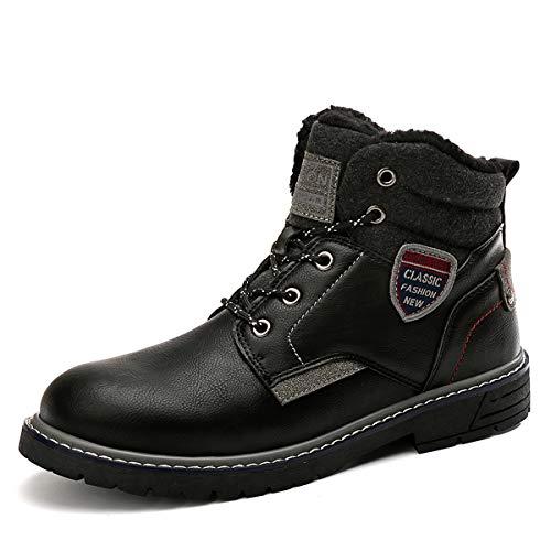 Camfosy mannen winter sneeuw laarzen, enkel bont gevoerde laarzen warm kort werk laarzen weerstaan klimmen Chukka laarzen Kant omhoog hoge top outdoor wandelen Trekking schoenen