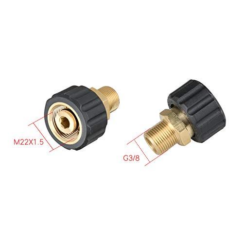 2 Stücke Messing Hochdruckreiniger Schnellkupplung M18x1.5mm M22x1.5mm