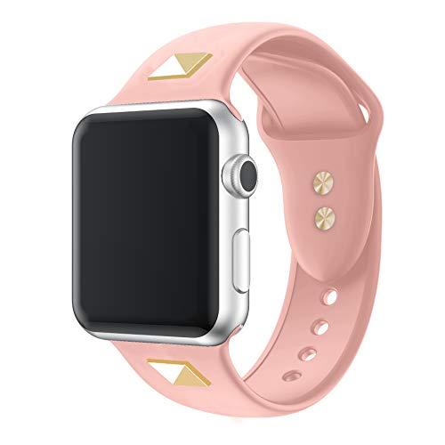 Willow - Correa de silicona compatible con Apple Watch Band de 38 mm, 42 mm, 40 mm, 44 mm, delgada, suave, estrecha, de repuesto, para iWatch Series SE/6/5/4/3/2/1 para mujeres y hombres 38mm/40mm