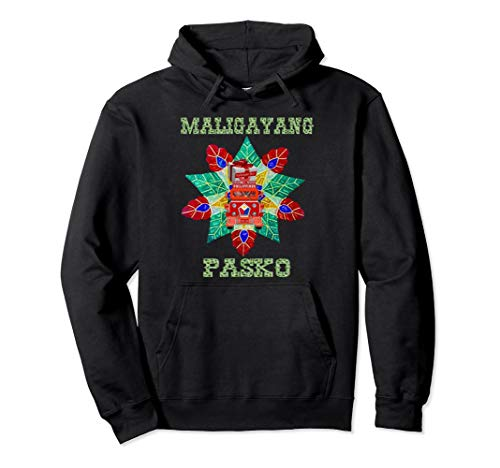 Traditional Parol with Jeepney and Balikbayan Box Pullover Hoodie
