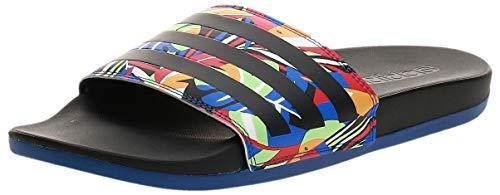 adidas Womens Adilette Comfort Running Shoe, CBLACK/CBLACK/ROYBLU,42 EU