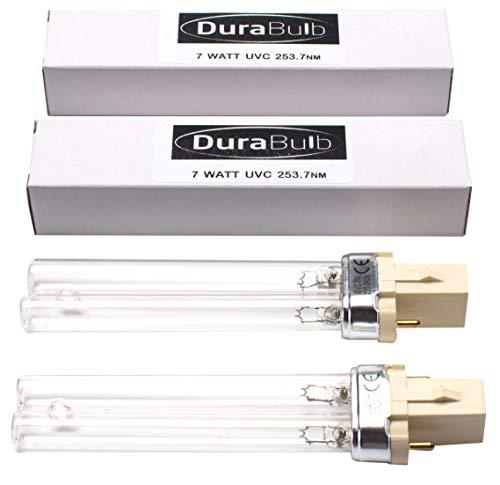 durabulb Ersatz UV (Ultra Violet) Lampe für Teich UVC Filter & Klärer 5W 7W 9W 13W - Twin Pack 7W