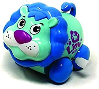 Akrobo Cute Animal Toys Set with Winding Chain and Moving Wheels Feature for Toddlers (Multicolor) Pack of 1 (Lion 1)
