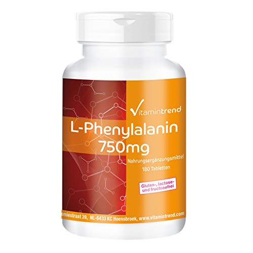 L-Phenylalanin 750mg - 180 Tabletten - vegan - hochdosiert