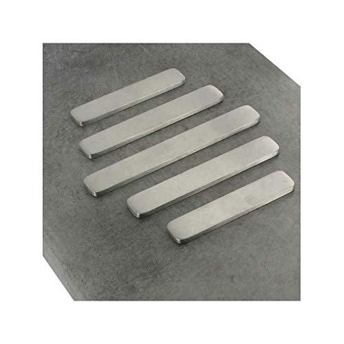 Repose plat lot de 5 baguettes - Epaisseur : 5 mm - Finition : Brossé - Matériau : Inox 304 L - ITAR