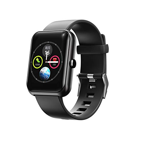 Smart Watch, IP68 Impermeable con 8 Rastreador de Modo Deportivo, Ritmo cardíaco Monitoreo del sueño Bluetooth Pulsera, Ejercicio de Aptitud para niños, niñas y niños (Color : Black)
