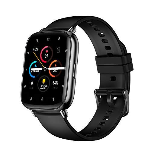 YQY Smart Watch, Pantalla de Aptitud de la Pantalla táctil Completa con Monitor de sueño de Ritmo cardíaco, IP67 a Prueba de Agua para iOS Android para Hombres Mujeres,Negro
