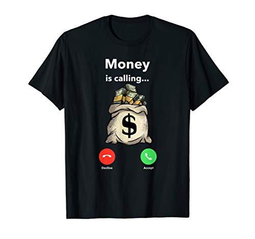 Money Calling Gang Ster Entrepreneur Christmas Hip Hop Gift T-Shirt