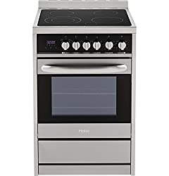 "Haier HCR2250AES 24"" Freestanding Electric Range with True European Convection in Stainless"