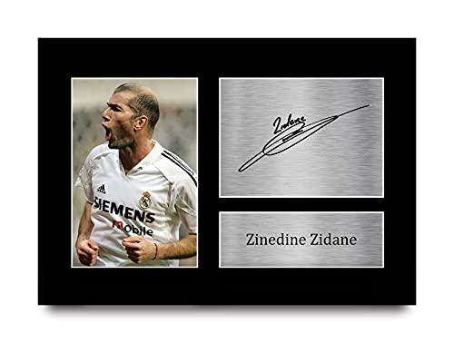 HWC Trading Zinedine Zidane A4 Sin Marco Regalo De Visualización De Fotos De Impresión De Imagen...