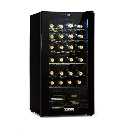 Klarstein Shiraz Uno - cave à vin, températures: 5-18 °C, classe d'efficacité énergétique B, 42 dB, panneau de commande soft-touch, 4 clayettes,...