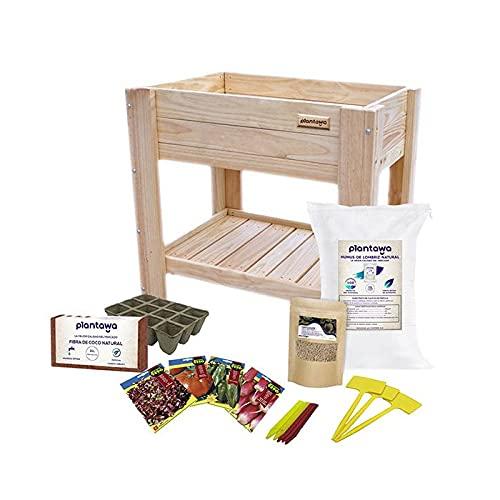 Kit de Cultivo Completo, Kit Cultivo con Mesa de Cultivo 80 x 78 x 50 cm, Kit Autocultivo de Iniciación para Jardín