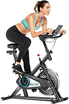 Ancheer 49Lbs Indoor Cycling Bike with Heart Rate Monitor