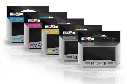 Prestige Cartridge 5 Compatibles 502XL Cartuchos de Tinta para Epson Expression Home XP-5100 XP-5105 XP-5115 Workforce WF-2860DWF WF-2865DWF - Negro(x2)/Cian/Magenta/Amarillo