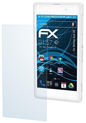 atFolix Schutzfolie kompatibel mit Allview Soul X5 Folie, ultraklare FX Bildschirmschutzfolie (3X)