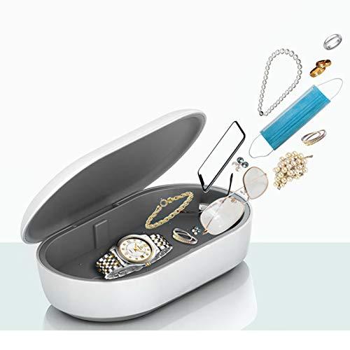 UV-C Sterilization Box, 253,7nm UV lampe Sterilisator Tragbar 2 Desinfektionsmodi Desinfektion für Zahnbürste, Brille Ohrhörer, Schmuck, Beobachten, Handys, Make-up Pinsel, Uhr usw