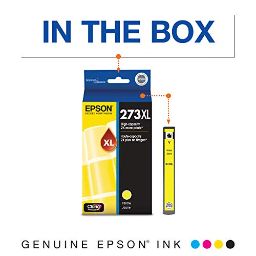 EPSON T273 Claria Ink High Capacity Yellow Cartridge (T273XL420-S) for Select Epson Expression Premium Printers Photo #2