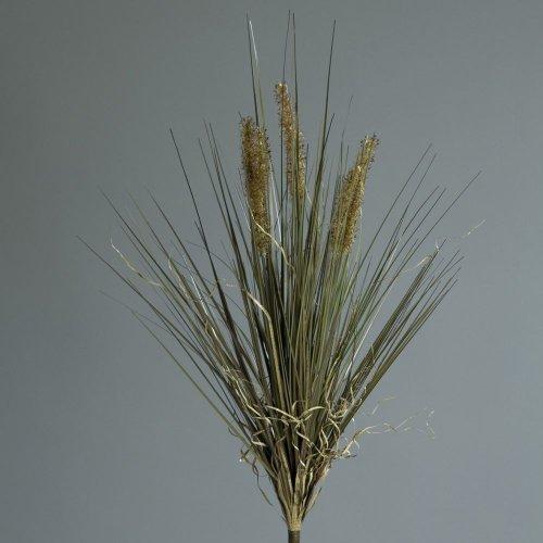 Pfeifenputzerbusch Zylinderputzer Kunstgras Kunstpflanze, braun, 63 cm