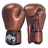 HEEYEE Guantes de Boxeo 8oz, 10 oz, 12 oz, 14 oz para Hombres y Mujeres, MMA Muay Thai Sanda Boxing Gloves Taekwondo Fighting Guante Entrenamiento de Artes Marciales Guante,Vintage Gold,8oz
