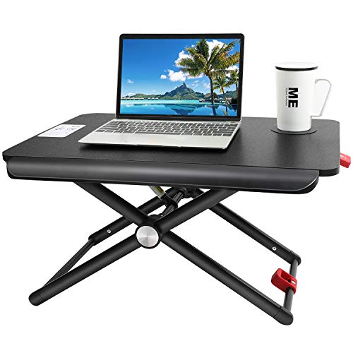 HUANUO Standing Desk Converter | Height Adjustable Sit Stand Desk with Cup...