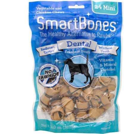 SmartBones Mini Dental Chews (24 Pack)