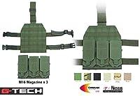 GUARDER G-TECH MOD M16 レッグ マガジンポーチ オリーブドラブ GT-T02(OD)