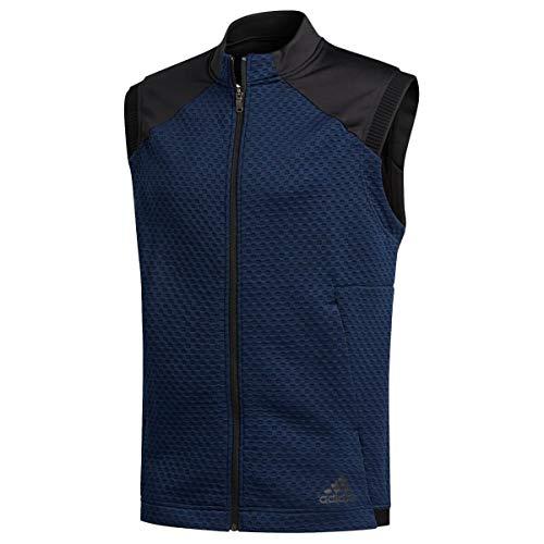 Adidas Golf 2020 Cold RDY Weste für Herren, Doppelstrick, ärmellos, durchgehender Reißverschluss Gr. XL, Collegiate Navy