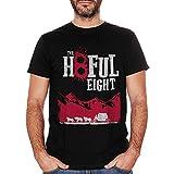 LAIRI T Shirt Mens Quentin Tarantino The Hateful Eight Movie Pulp Fiction Hyenas Black S