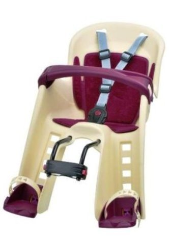01060201 Polisport Bilby Junior Fahrrad Kindersitz Vorderradsitz Creme GS-geprüft