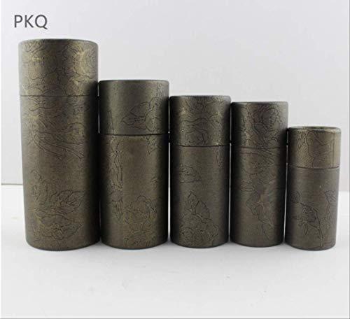 FHFF Kraft papieren tas 6 kleuren kleine kraft papier kartonnen doos voor cosmetische etherische olie pakket doos ronde parfum fles Inn 12.1X4.8Cm 100Ml zwart