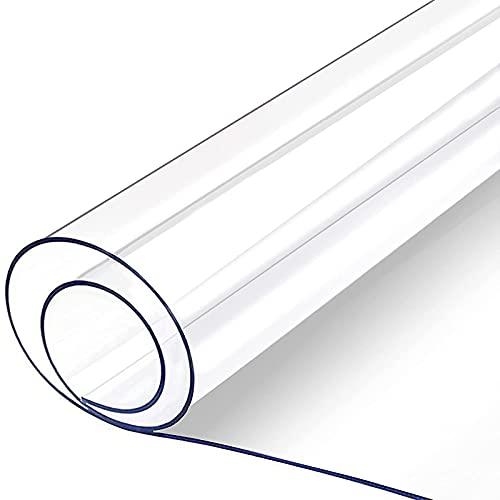 Plastic Afwasbaar Tafelkleed Transparant Tafelblad Beschermer Antislip Waterdicht Oliebestendig Doorzichtig PVC Eettafel Cover,100×100cm
