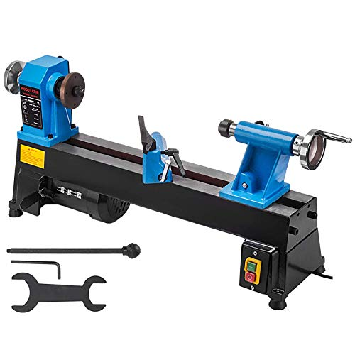 Mophorn Wood Lathe 10 x 18 Inch,Bench Top Heavy Duty Wood...