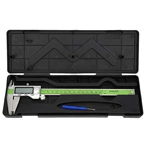 Calibrador digital, calibre Vernier digital de 150 mm / 200 mm / 300 mm Pantalla LED de conversión de mm/pulgada Medidor de regla electrónica de alta resistencia de acero inoxidable(200mm)