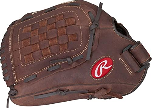 Rawlings Player Preferred Baseball Glove, Left Hand Throw, Slow Pitch Pattern, Basket-Web with Support Strap, Custom Fit, 14 Inch