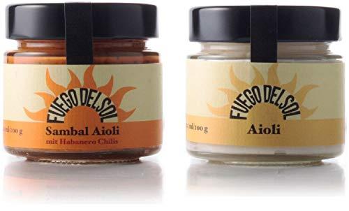 Original Aioli und Sambal Aioli im Paket. Tapas Zauberwaffen für jeden Geschmack. Original aus Spanien