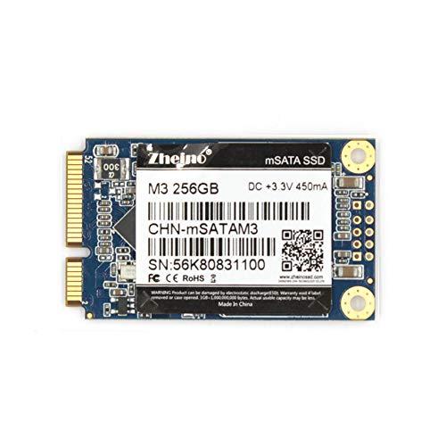 Zheino mSATA SSD 256GB M3 Internal Mini SATA SSD Drive 3D Nand Flash Solid State Drive for Mini PC Notebooks Tablets PC