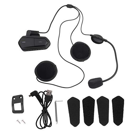 Yunseity Casco de Motocicleta Auriculares estéreo inalámbricos con Bluetooth, Auricular con Radio FM para Motocicleta de 2.4GHz, Casco Bluetooth para Motocicleta de Alta Velocidad