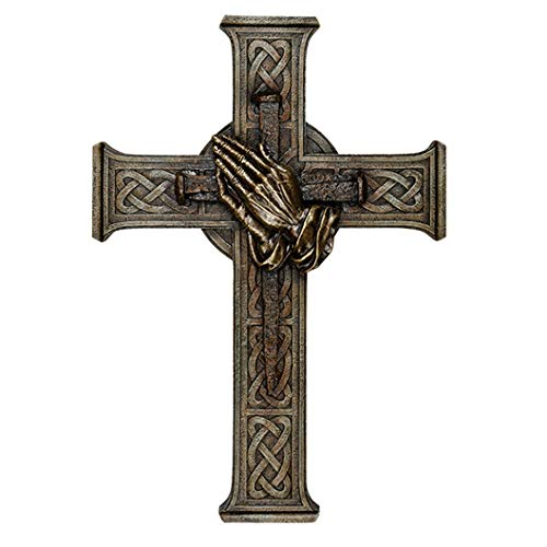 Carson 14183 Wandkreuz, Betende Hände, 30,5 cm, Mehrfarbig
