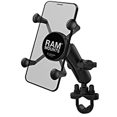 """Spring-loaded 'X' design with rubber caps sports great holding power without hiding your phone; includes optional device tether for peace of mind during rugged use Includes U-bolt base that accommodates rails from .5"""" to 1.25"""" in diameter and a mediu..."""