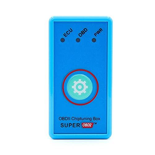 Werstand Super/Eco OBD2 Chiptuning Box Diesel/Performance Chip Tuning Box OBD II para bencina/Gas/Gasolina Coche Duradero Security