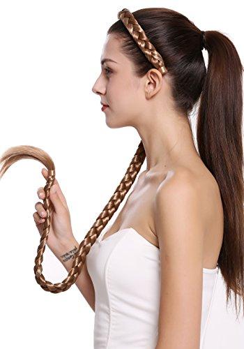 WIG ME UP- N1038-27H613 Extensión de pelo aro de pelo trenzado con trenza muy larga traje mezcla rubia 95 cm