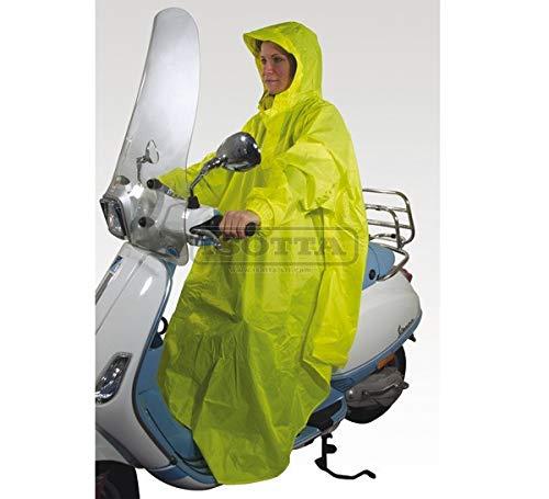 Albornoz Impermeable Isotta Compatible con Aprilia SR 50 1998 98 antiviento Amarillo fosforescente escúter Moto